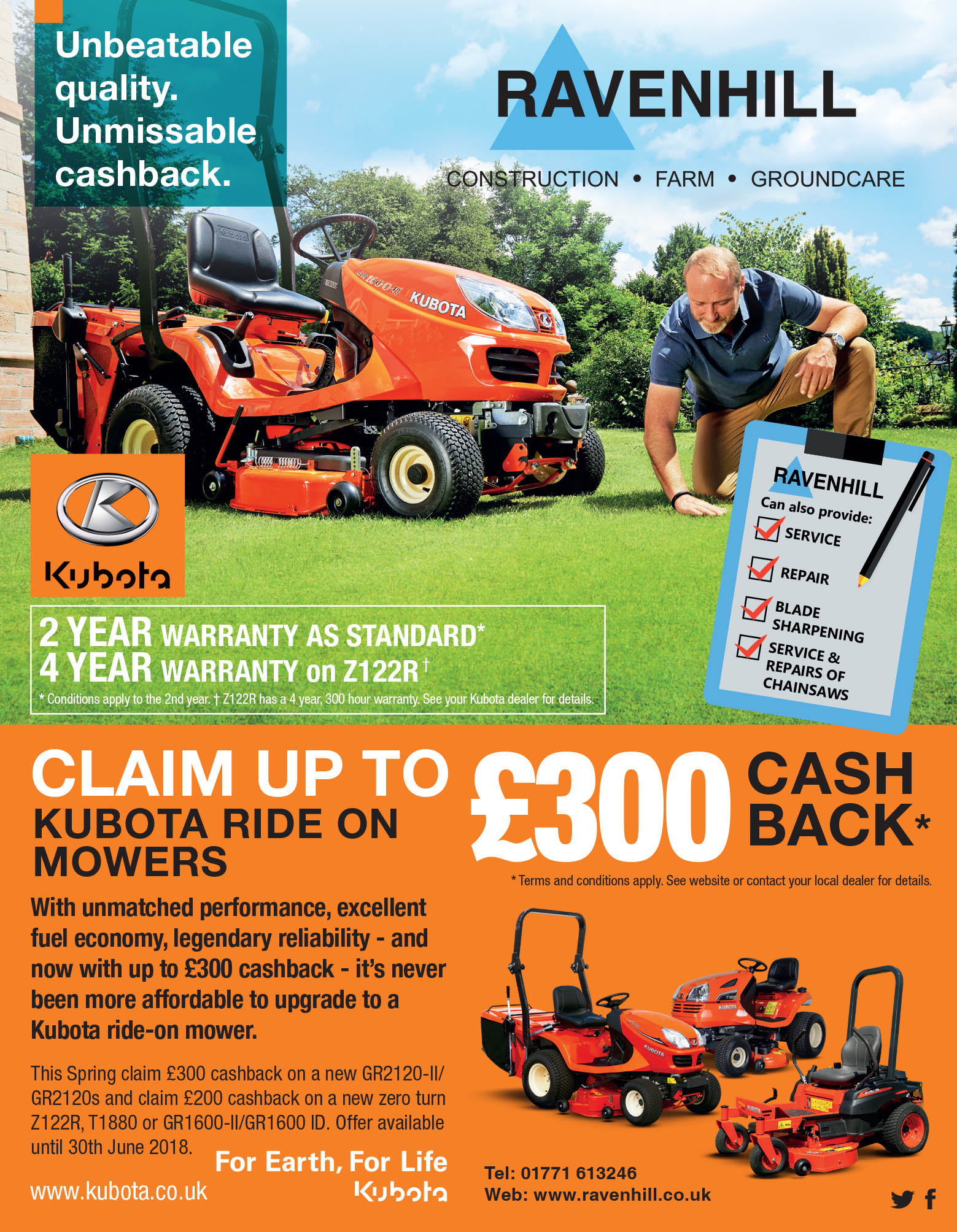 Kubota Cashback Offer
